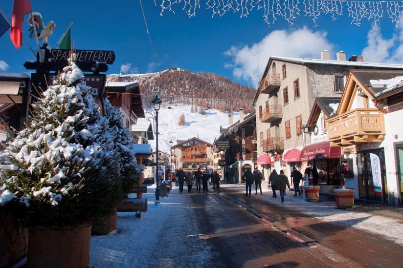 L'area dello shopping di Livigno