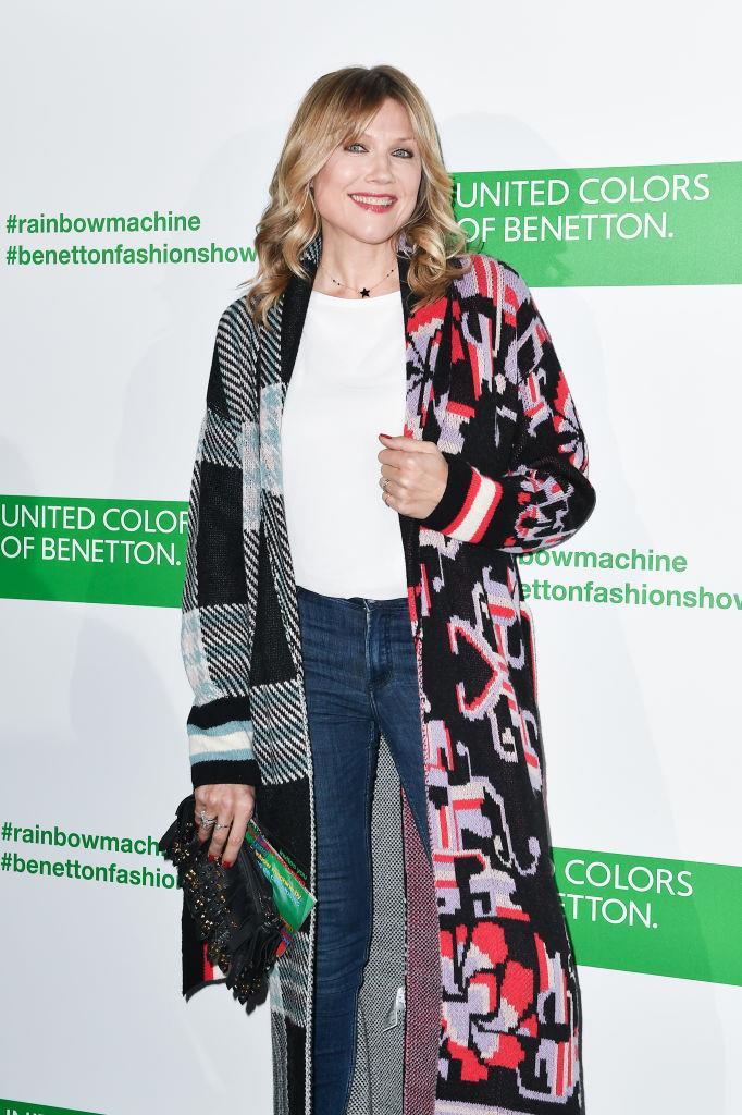 Natasha Stefanenko assiste alla sfilata Benetton