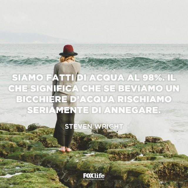 Donna sugli scogli osserva il mare