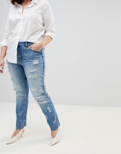 Jeans strappati taglia comoda