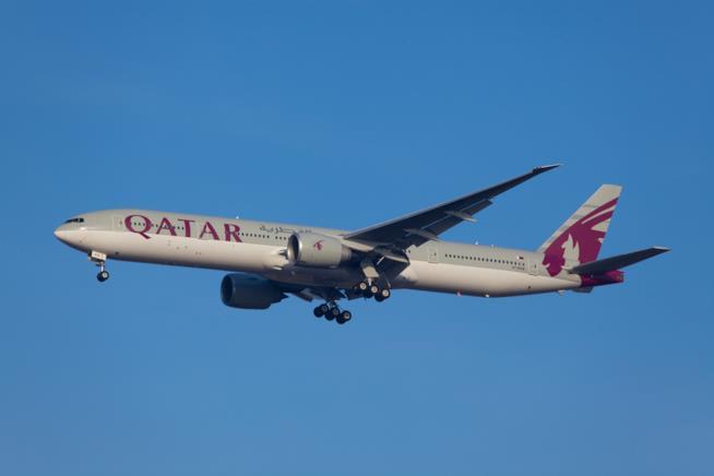 Un aereo della Qatar Airways