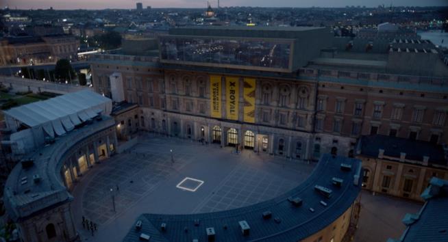 Una scena d The Square, ambientato a Stoccolma