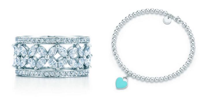 Due bracciali Tiffany in collage