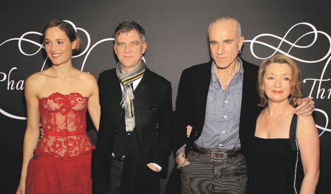 Paul Thomas Anderson Daniel Day-Lewis, Lesley Manville e Vicky Krieps alla premiere del film a New York