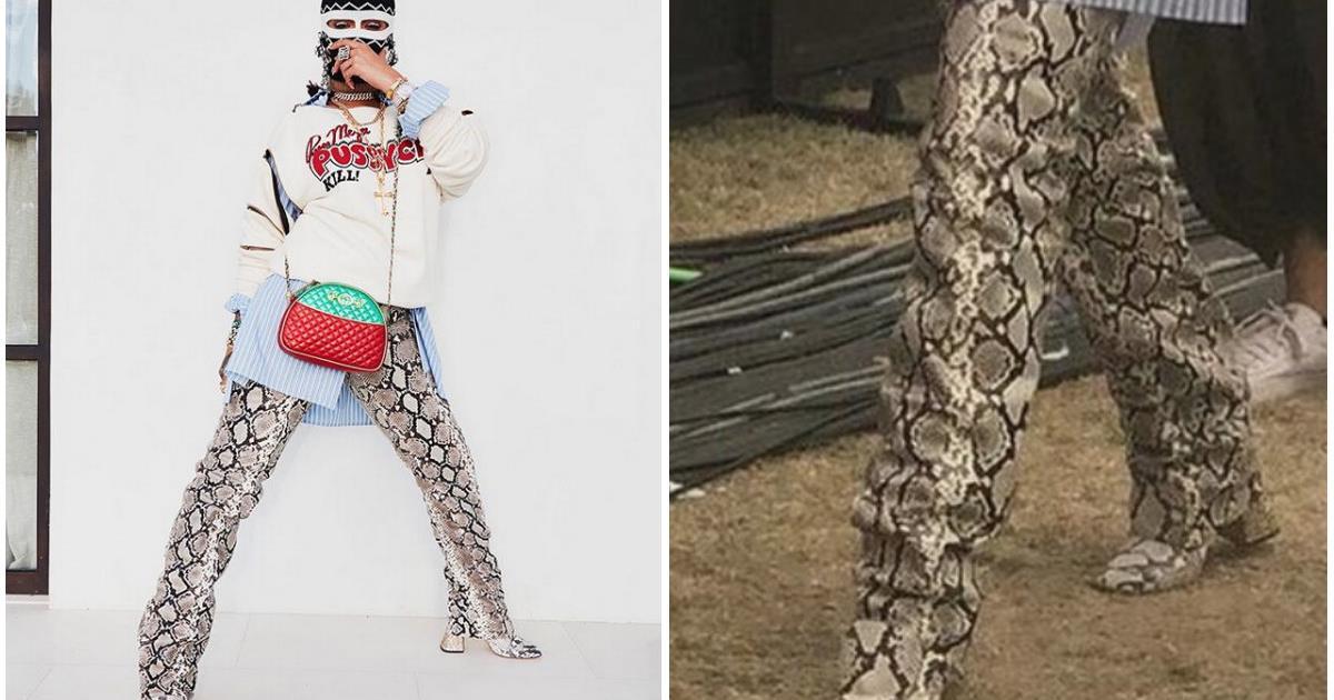 I pazzeschi pantaloni e stivali pitonati di Rihanna e dove trovarli (e un prezzo inferiore)