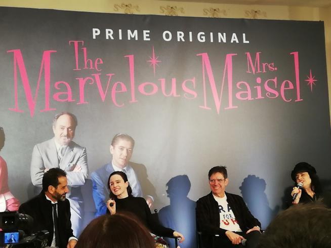 La conferenza stampa a Milano di La fantastica signora Maisel