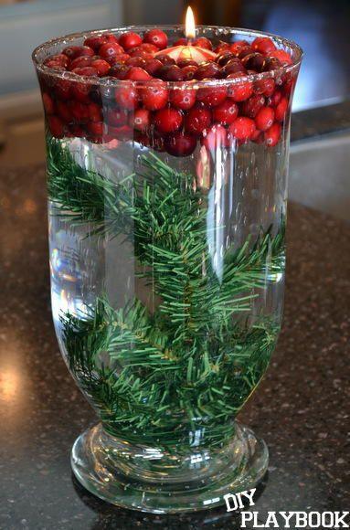 centrotavola natalizio in vetro