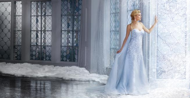 L'abito da sposa di Alfred Angelo ispirato a Frozen