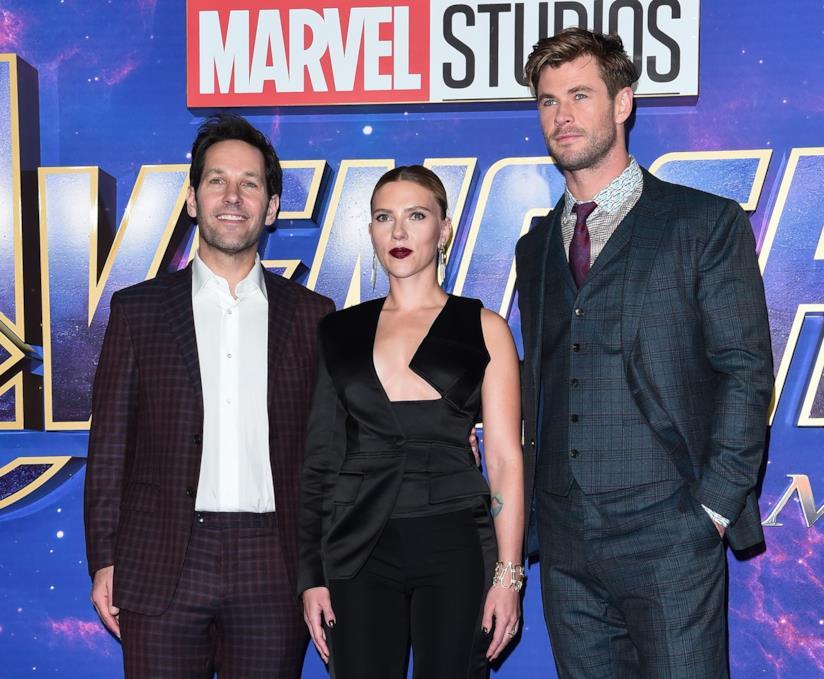 Scarlett Johansson, Paul Rudd e Chris Hemsworth