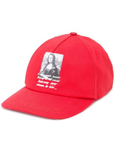 Cappello da baseball con stampa Mona Lisa