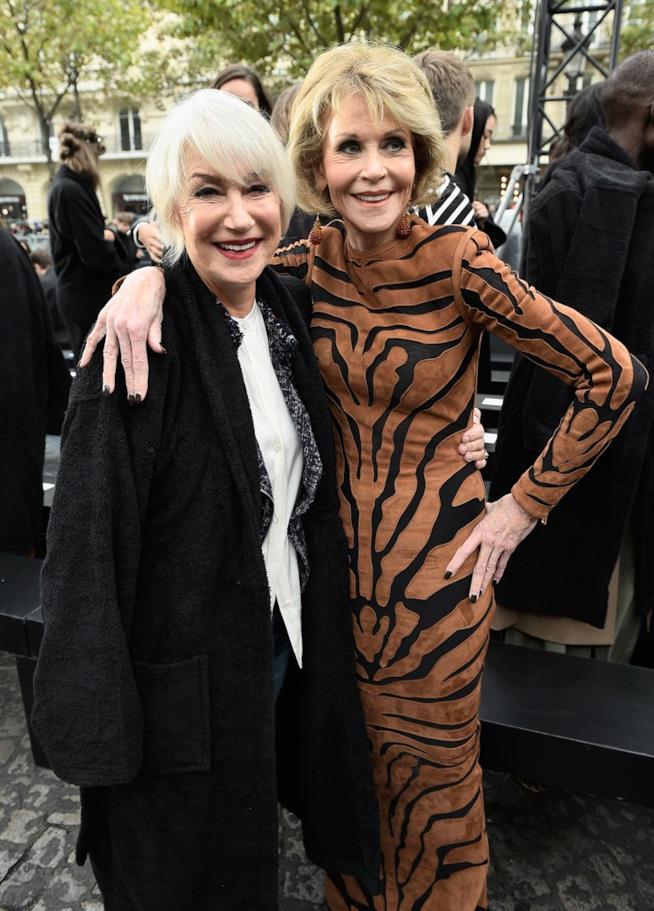 Helen Mirren e Jane Fonda a Parigi