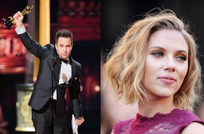 Gli attori Sam Rockewell e Scarlett Johansson