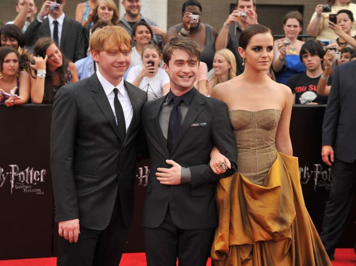 Rupert Grint, Daniel Radcliffe ed Emma Watson