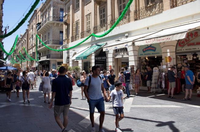 La Valletta, shopping per le vie del centro