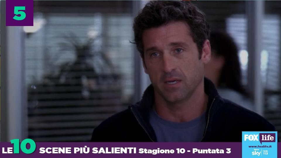 """La """"paternità"""" comincia a farsi sentire sul viso di Derek."""