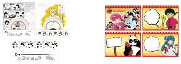 Gadget Ranma 1/2 acquistabili nei pop-up cafe in Giappone