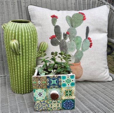Cuscino a tema cactus