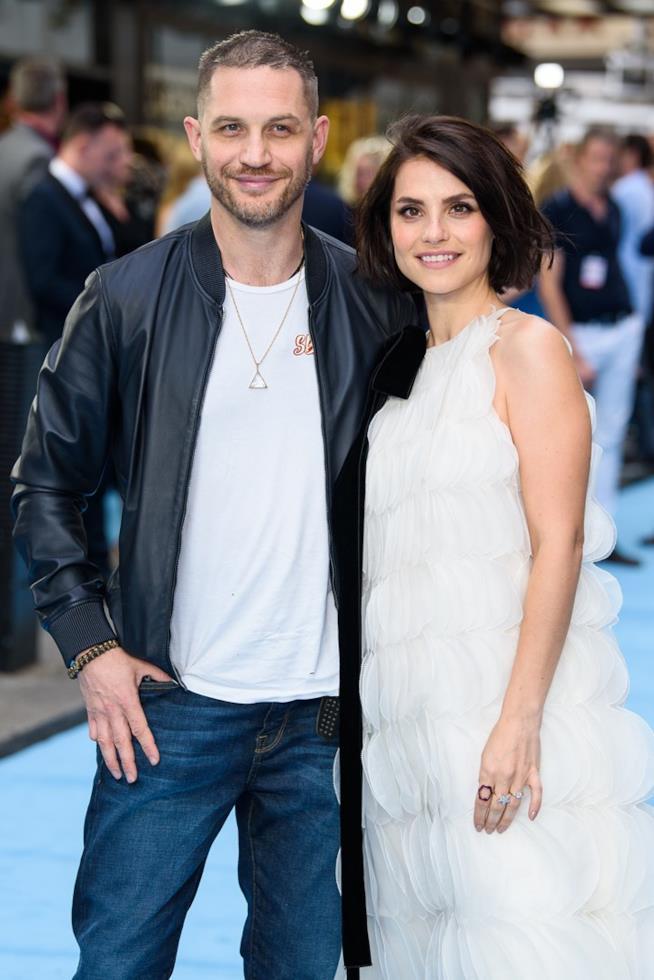 Tom Hardy e la moglie Charlotte Riley