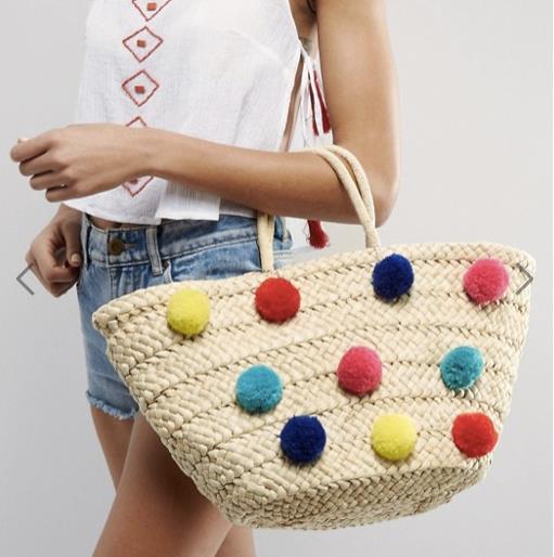 La borsa con i pon-pon di Asos