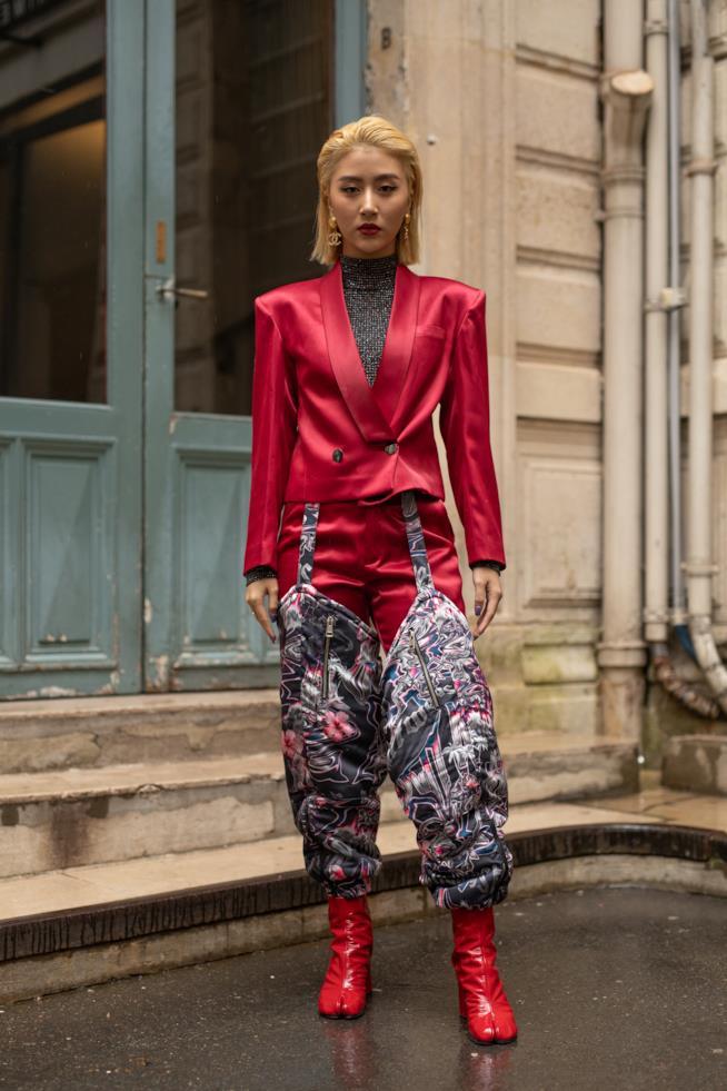 Stivali rossi Parigi Fashion Week 2019