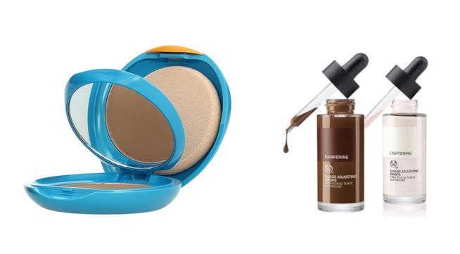 Prodotti Shiseido e Body Shop per pelli abbronzate