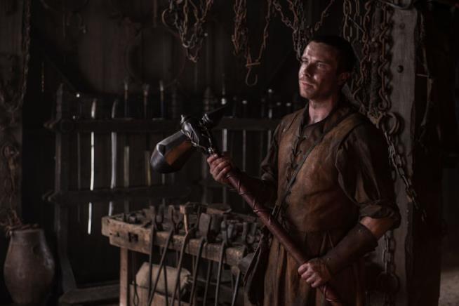 L'attore Joe Dempsie in Game of Thrones