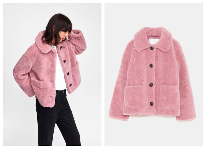 Giacca rosa di moda per l'autunno inverno 2018-19