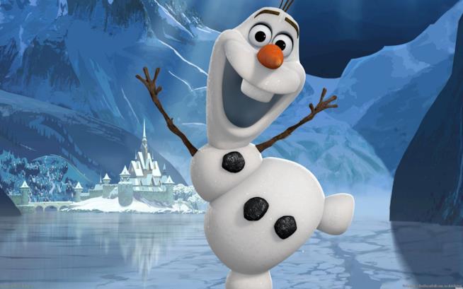 Olaf, il personaggio di Frozen in versione peluche