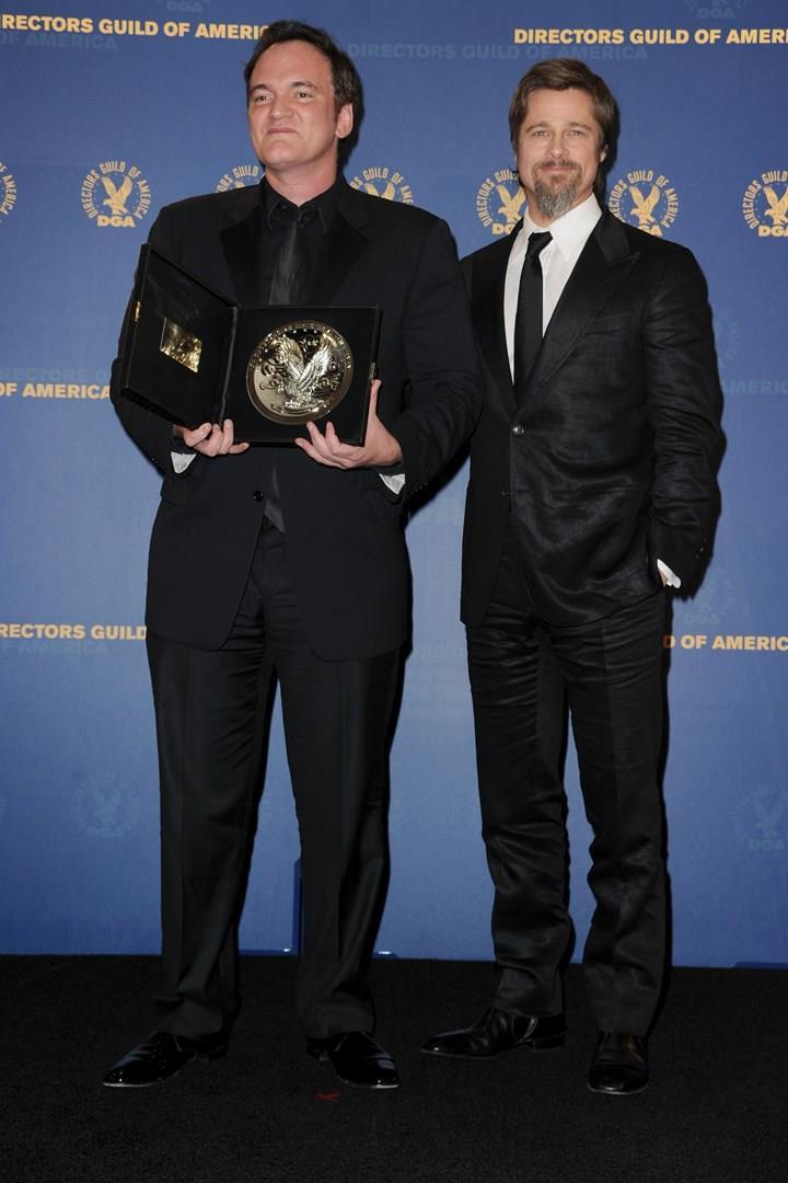 Brad Pitt  e Quentin Tarantino al premio Directors Guild of America
