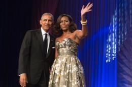Primo piano di Barack Obama e sua moglie Michelle
