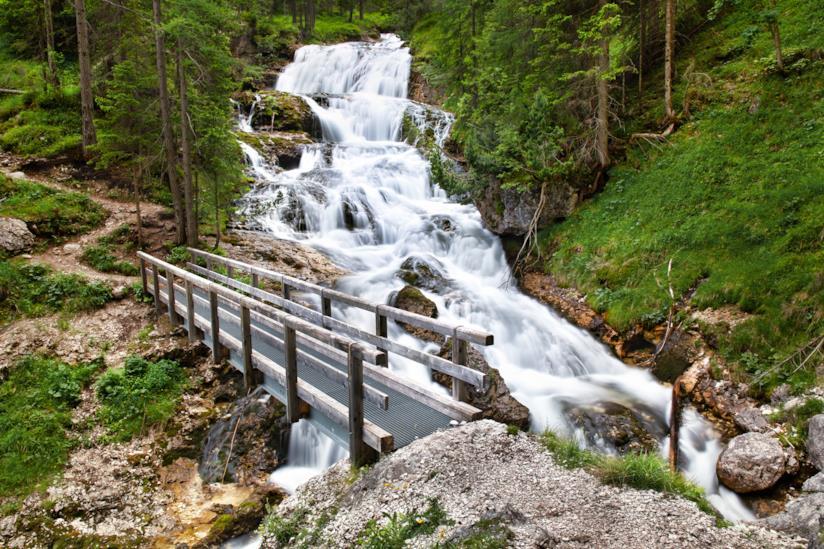 Cascate di Fanes, Cortina