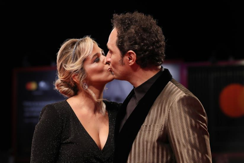 Francesca Barra e Claudio Santamaria sul red carpet