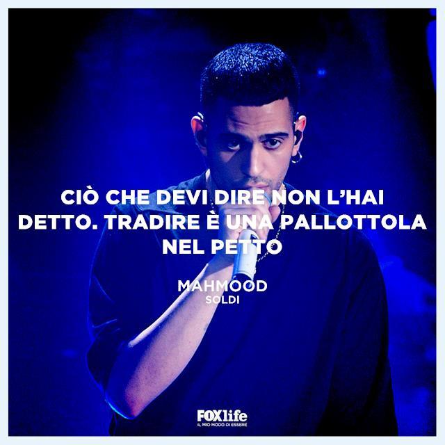 Una frase della canzone Soldi di Mahmood vincitore di sanremo 2019