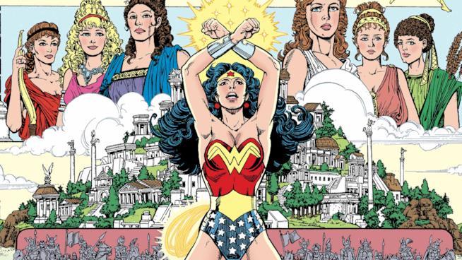 Un disegno di Wonder Woman, fumetto della DC Comics