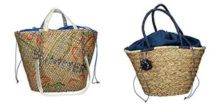 Con le fibre naturali, le borse a secchiello P/E 2018