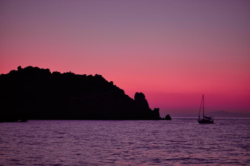 L'Isola del Giglio al tramonto