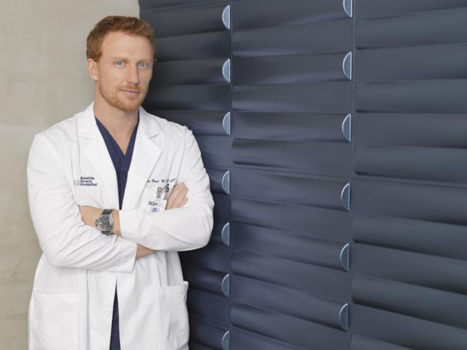 L'attore Kevin McKidd in Grey's Anatomy
