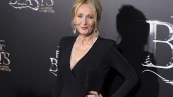 La scrittrice J.K Rowling