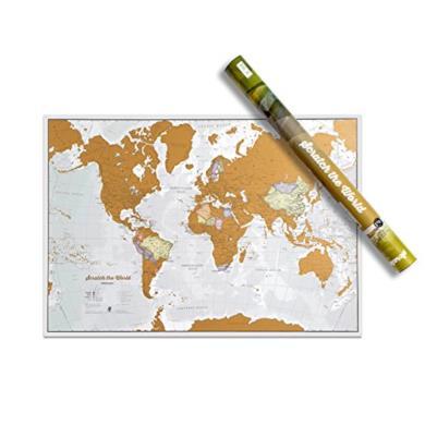 Scratch the World® poster mappa del mondo