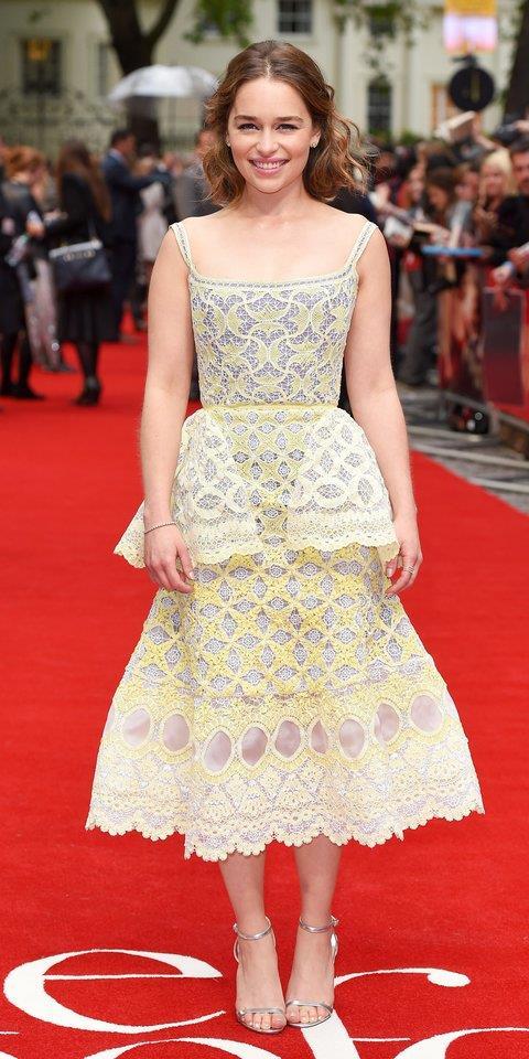 Emilia Clarke alla prima di Io prima di te