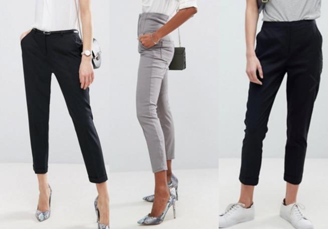Pantaloni sigaretta e vita alta
