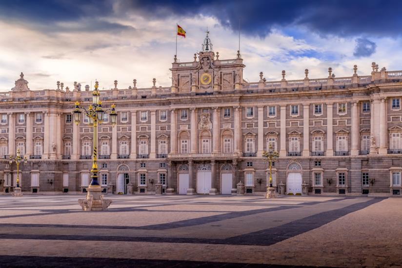 Vista del palazzo reale di Madrid