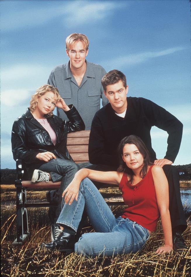 I quattro protagonisti di Dawson's Creek: Katie Holmes, Joshua Jackson, James Van Der Beek e Michelle Williams