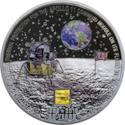 Moneta in argento sbarco luna