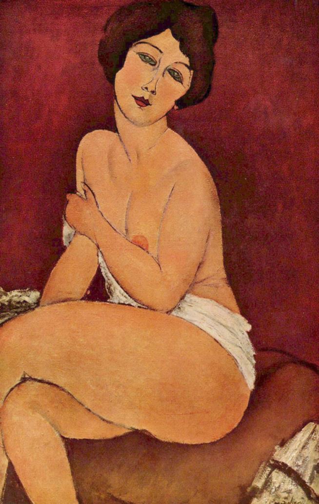 Il quadro di Amedeo Modigliani Nudo seduto su un divano (La bella Romana)