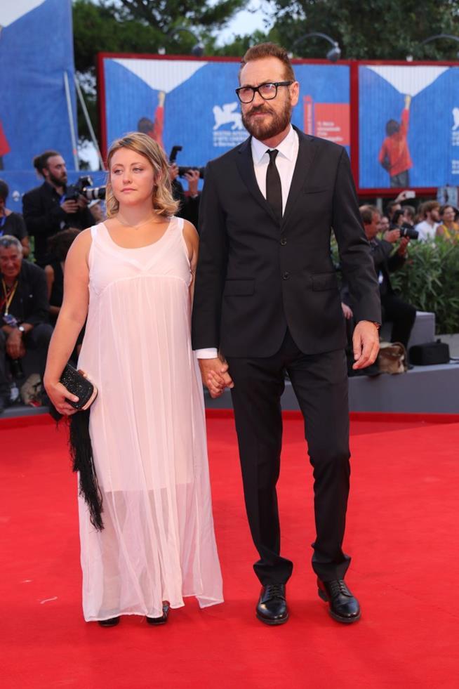 Marco Giallini e la moglie Loredana sul red carpet