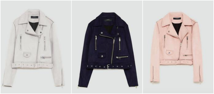 Collage di giacche scamosciate Zara