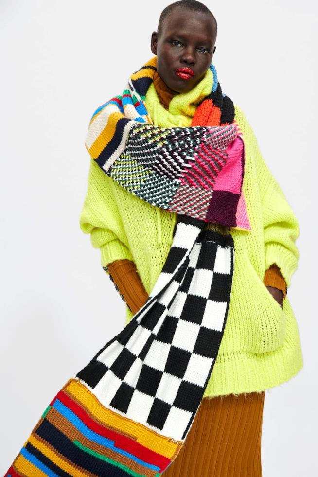 Sciarpa patchwork di Zara