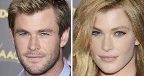 Chris Hemsworth immaginato come donna
