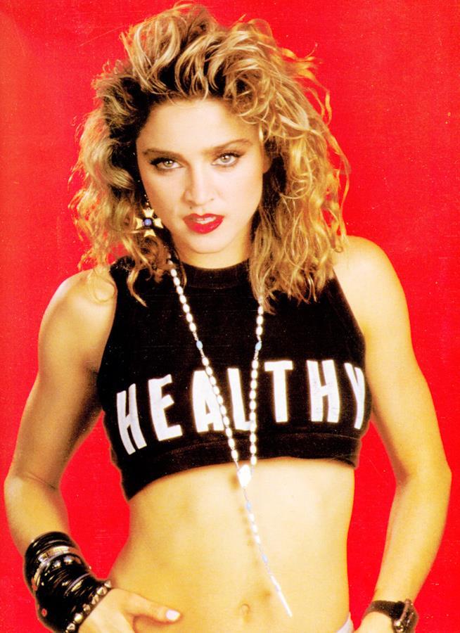 Madonna in un'immagine degli anni '80